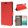 MOONCASE ЧЕХОЛ ДЛЯ Huawei Honor 7i Premium PU Flip Leather Wallet Card Holder Bracket Back Pouch Red 01 leather case left and right flip for huawei honor v8 rose red
