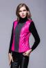 Женская куртка свитера рукав длинная куртка хлопка лоскутная шерстяная кожаная куртка, соответствующая краткому параграфу Bertha parkas два цвета