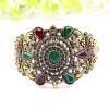 Этнические турецкие браслеты Bangles браслет античные золото цвет смолы ювелирные изделия меховые полые цветок Bangle Индии свадеб