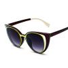 FEIDU мода сексуальный кошачий глаз солнцезащитные очки женщин Бренд дизайнер винтажной покрытия зеркальные солнцезащитные очки добычу Oculos де соль Feminino vogue vogel очки черного кадра серебряного покрытия линза мода полной оправе очки vo5067sd w44s6g 56мм
