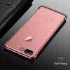 Soft TPU Transparent Case for iphone 8 plus Ultra Thin Electroplating Case for iphone 8 Cases Silicone Colored Frame Cover devia 0 7mm ultra thin soft tpu cover for apple watch 38mm pink