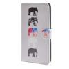 MOONCASE Слон стиль Кожа боковой паз флип Бумажник карты Стенд Чехол чехол для Microsoft Lumia 640 XL / а14