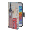 MOONCASE Pattern Style Leather Side Flip Wallet Card Slot Pouch Stand Shell Back ЧЕХОЛ ДЛЯ Samsung Galaxy S5 i9600 mooncase soft silicone gel side flip pouch hard shell back чехол для samsung galaxy s6 grey
