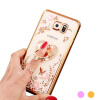 Flower Diamonds Soft TPU Phone Docks Cases Cover For Samsung Galaxy S8 S8 Plus S7 S7 Edge s6 s6 edge plus S5 ultra slim clear phone cases for samsung galaxy s6