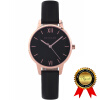 BRIGADA Элегантные красивые моды Роуз Золотые женские часы, швейцарский бренд Blcak Dress Watch для женщин