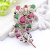 Изысканный турецкий цветок женщин брошь Pin Vintage перо дизайн смолы ювелирные шпильки антикварные золотые цветные броши броши бр броши only happy брошь