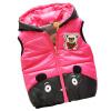Малыш Ребенок Девочка Мальчик с капюшоном ватнике Вест Жиле Медведь пиджаки Тепловые Одежда