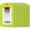 Превосходный и (UHOO) 6832 конфеты цветные кортикальные документы набор карт вертикальный зеленый 12 / коробка рабочая карта штатная карточка значок