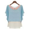 Кукла воротник рубашки шифон блузки рубашка большого размера блузки alir блузки