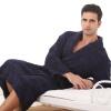 Хлопок халат халат полотенце мужчин и женщин более толстый осенний и зимний хлопок любителей халат большой размер длинный домашний сервис весна и осень халат