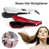 3D LCD Магия волос Прямая кисть Паровая расческа Выпрямитель для волос Кисть Электрический стимпод Прямая расческа для волос Униве