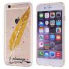 MOOCASE Разноцветные блестящие Оперение шаблон Прозрачный ТПУ Дело Чехол для iPhone 6 4.7 '' / iPhone 6 Plus 5.5 '' чехол для карточек котенок и разноцветные клубки