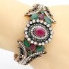 Эксклюзивные турецкие женщины цветок браслет браслет смолы Rhinestone ювелирные изделия манжеты античный золотой цвет Пейсли шабло