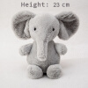 Super soft gray plush elephant doll Baby Accompany sleeping toys Three size Children's dolls Gifts for children cute 25cm simulated babies sleeping dolls rabbit plush stuffed baby doll children toys birthday gift for babies doll reborn