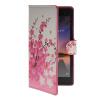 все цены на  MOONCASE Plum flower style Leather Side Flip Wallet Card Slot Stand Pouch чехол для Huawei Ascend P7  онлайн