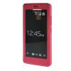 MOONCASE Huawei Honor 7 чехол для Full Screen View Leather Flip Pouch Bracket Back Cover Hot pink чехол для сотового телефона honor 5x smart cover grey