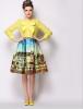 Lovaru ™ 2015 летние юбки новый большой моды пейзаж картины печати горячей продажи нового способа юбки женские юбки в розницу