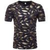 Мужская мода повседневная футболка с напечатанными короткими рукавами летние топы
