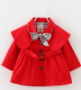 Новорожденных девочек Пальто из лука   с поясом Принцесса Осенняя ветровка Куртка Outwear бусы из янтаря осенняя мелодия нян 1217