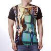 Модные мужские O-образные вырезы Cello Print Красочные футболки-пуловеры пуловеры