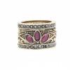 Винтаж турецких женщин смолы кольцо Arabesque вырезать цветок ювелирных клевера кольцо античный золотой цвет ретро свадебные украш
