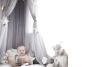 Москитная сетчатая кровать с навесом Пряжа Играть в палатку Постельные принадлежности для детей, играющих в чтение с детьми Кругла