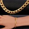 Желтый золотой браслет с цепочкой из золота 18K