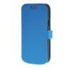 цена на MOONCASE Slim Leather Side Flip Bracket чехол для Samsung Galaxy S4 Mini i9190 Blue