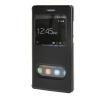 MOONCASE Huawei Ascend P8 Lite чехол Double Window View Leather Flip Bracket Back чехол Cover Black 01 стоимость
