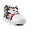 Ребенок Дети Девочка Цветок Цветочные высокой верхней шнуровке Холст тапки ходить Спортивная обувь мыло ушастый нянь с пятновыводящим эффектом