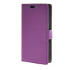 MOONCASE Litch Skin Leather Card Slot Wallet Bracket Back чехол для Sony Xperia E4g Purple мобильный телефон jinga simple sl 100 чёрный