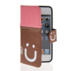 все цены на  MOONCASE Leather Side Flip Wallet Card Slot Pouch Stand Shell Back ЧЕХОЛ ДЛЯ Apple iPhone 5 5S Pink Brown  онлайн