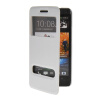MOONCASE View Window Leather Side Flip Pouch Stand Shell Back ЧЕХОЛДЛЯ HTC One M7 White roar korea noble leather stand view window case for iphone 7 4 7 inch orange