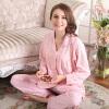 Сара Вэй пижамы домашний сервис дамы пижамы клетчатый хлопок может носить длинный рукав кардиган домашний костюм для службы 3411 SLW34N11 женский порошок M домашний кабинет