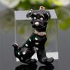Модные яркие черные далматинские броши для собак для свитера с воротником из плеча для свитера