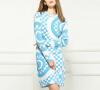 Lovaru ™2015 Европейский и американский большой новый официальный сайт того же пункта бренд геометрическая вязать платье женщин Осенняя