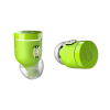 Воздух by crazybaby (NANO) сумасшедший мальчик красочный реальный bluetooth спортивный наушник в ухе Hi-Fi звонок наушники светло-зеленый наушник