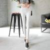 Антарктический (Nanjiren) тонкий раздел из девяти штанов брюки моды тенденции дикие штаны ноги Тонкий удобный стрейч брюки белый M (160/68) цена
