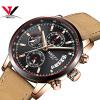 кварцевые наручные часы Мужчины Топ бренда роскошные часы Мода Мужчины спортивные часы Кожаный ремешок хронограф из нержавеющей часы kenneth cole kenneth cole ke008dmwtw72