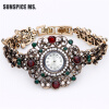 Роскошные браслеты Часы Часы Часы Часы кварца Часы Vintage Турецкие наручные часы Индийский свадебный подарок антикварных ювелирны часы
