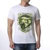 Мужская животная печатная головка волка Печатная футболка с круглой шеей головка ingersoll rand s64m26l ps1