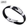 Ювелирные изделия браслета UKO полые браслеты из нержавеющей стали Силиконовые цепи Сувениры и подарки для мужчин 21 см