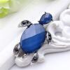 Изысканные большие кристальные морские черепахи Броши для женщин с синими ювелирными изделиями Антикварные золотые шарфы из отворо