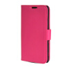 MOONCASE High quality Leather Side Flip Wallet Card Slot Pouch Stand Shell Back ЧЕХОЛ ДЛЯ Sony Xperia M2 Hot pink mooncase classic cross pattern leather side flip wallet card pouch stand soft shell back чехол для sony xperia m2 azure