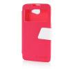 MOONCASE View Window Leather Side Flip Pouch Ultra Slim Shell Back ЧЕХОЛДЛЯ HTC Desire 516 D516W Hot pink мобильный телефон htc desire 516 htc 516 core 5 0 1 4 5mp gps wifi