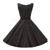 Lovaru ™Высокое качество +2015 Лето Женщины О-образным вырезом платья в горошек Мода Sexy рукавов бальное платье платье Vestidos купить бальное платье в харькове