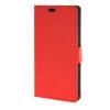 MOONCASE Простой стиль кожаный бумажник флип карты отойти чехол для Sony Xperia M4 Aqua Красный для sony m4 аква модный дизайн печать искусственная кожа мягкая чехол для sony xperia m4 аква с картой слотов бумажник и стенд