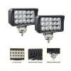JAHURD Led work lights for truck, 1 PCS 6 inch Led light bar 45W 12v Flood Driving Fog Light+Flush Mount Brackets for Ford Jeep