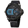 Новое прибытие Три Часовой пояс Показать часы силиконовой лентой кварцевые Мужчины цифровой наручные часы Спорт на открытом воздухе Мужчина Военно высокого качества Часы