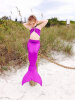 3 шт. Позолота для девочек Mermaid Tail Купальники Купальные костюмы Бикини Купальники Плавательные костюмы Плавающая одежда